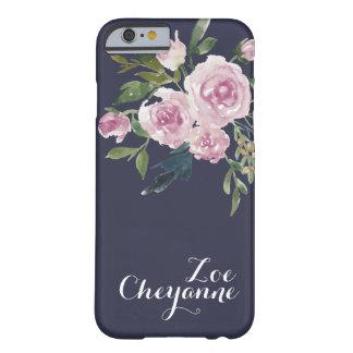 Capa de telefone floral personalizada com nome