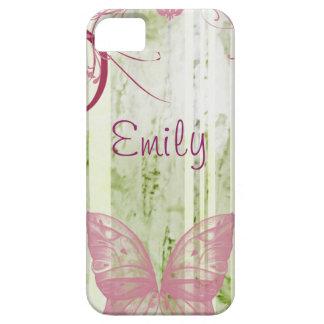 Capa de telefone floral personalizada da borboleta