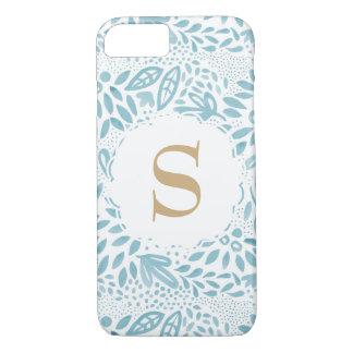 Capa iPhone 8/ 7 Capa de telefone floral personalizada do