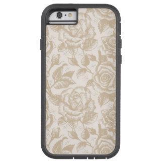 Capa de telefone floral rústica capa tough xtreme para iPhone 6