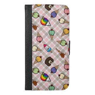 Capa de telefone gelado da carteira dos deleites