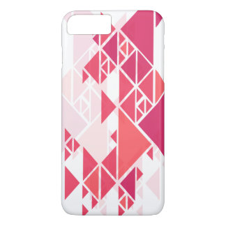 Capa de telefone geométrica abstrata cor-de-rosa