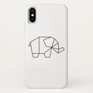 Capa de telefone geométrica do elefante