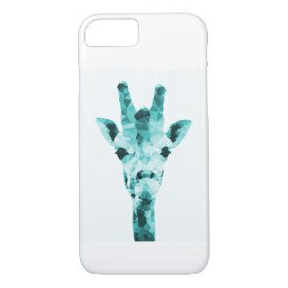 Capa de telefone geométrica do girafa da cerceta