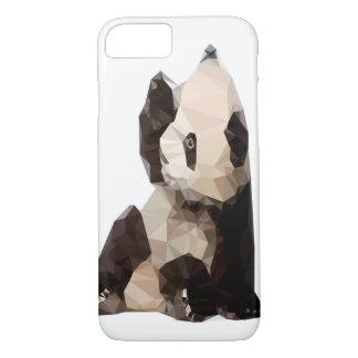 Capa de telefone geométrica do urso de panda
