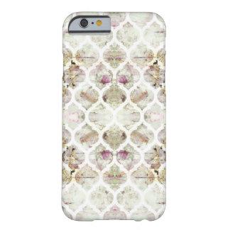 Capa de telefone geométrica floral do embaçamento capa barely there para iPhone 6