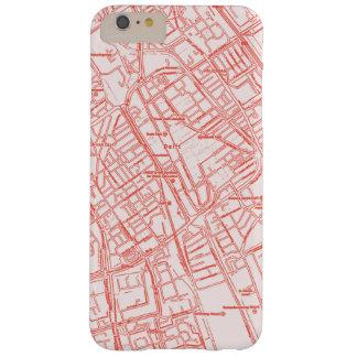 Capa de telefone global vermelha e branca do mapa