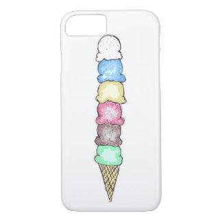 Capa de telefone grande do cone do sorvete