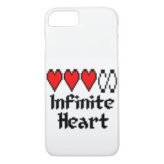 Capa de telefone infinita do coração