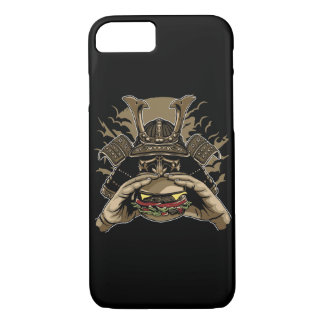 Capa de telefone lustrosa do hamburguer do samurai