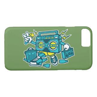 Capa de telefone lustrosa do robô de BoomBox