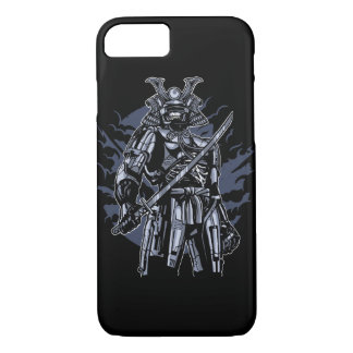 Capa de telefone lustrosa do robô do samurai