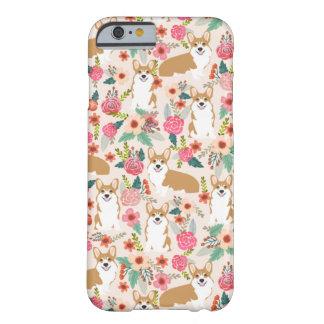 Capa de telefone modelada floral do Corgi