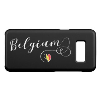 Capa de telefone móvel de Bélgica do coração,