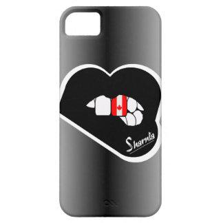 Capa de telefone móvel de Canadá dos lábios de