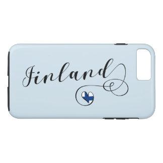 Capa de telefone móvel de Finlandia do coração,