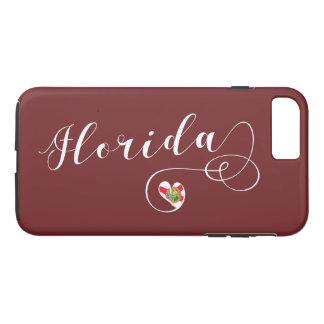 Capa de telefone móvel de Florida do coração,