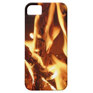 Capa de telefone móvel de madeira ardente
