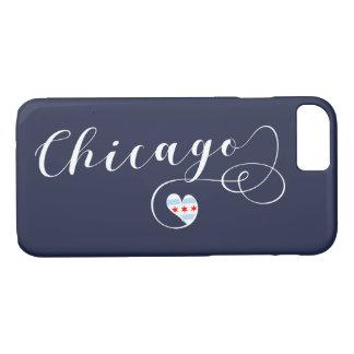 Capa de telefone móvel do coração de Chicago,