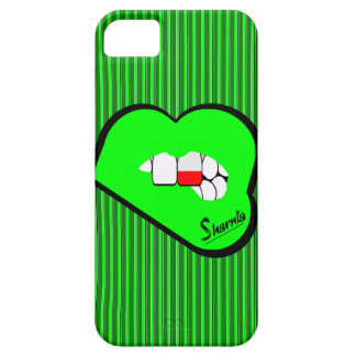 Capa de telefone móvel do Polônia dos lábios de
