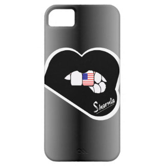 Capa de telefone móvel dos EUA dos lábios de
