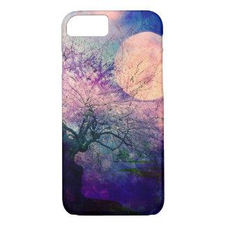 Capa de telefone Mystical da lua da árvore e da