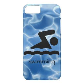 Capa de telefone nadadora do design