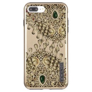 Capa de telefone nupcial do teste padrão da jóia