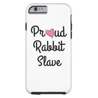 Capa de telefone orgulhosa do escravo do coelho