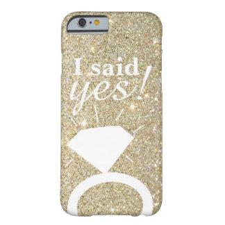Capa de telefone - ouro fabuloso eu disse sim!