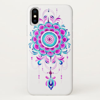 capa de telefone pendent da mandala cor-de-rosa da