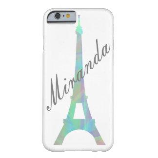 Capa de telefone personalizada Eiffel Pastel