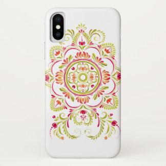 capa de telefone popular verde alaranjada do