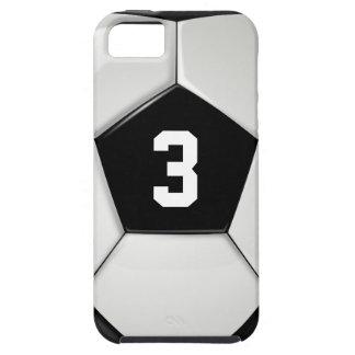 Capa de telefone preta & branca do número do
