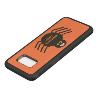 Capa de telefone preta da aranha do Dia das Bruxas