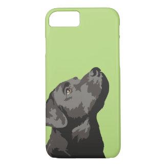 Capa de telefone preta de Labrador (escolha sua
