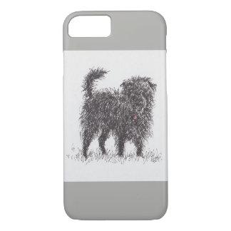 Capa de telefone preta de Terrier