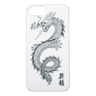 capa de telefone preta do dragão do iPhone 7
