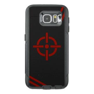 Capa de telefone preta & vermelha do alvo