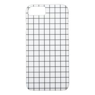 Capa de telefone preto e branco da grade