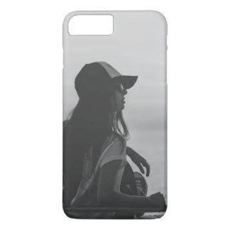 Capa de telefone preto e branco de IPhone 7