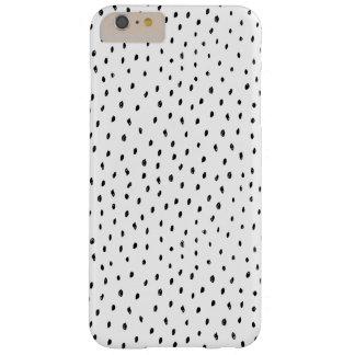 Capa de telefone preto e branco do ponto do Doodle