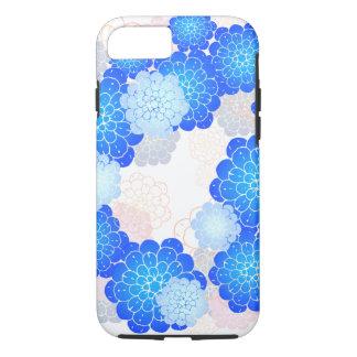 Capa de telefone profunda azul das flores