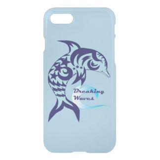 Capa de telefone reflexiva do golfinho tribal