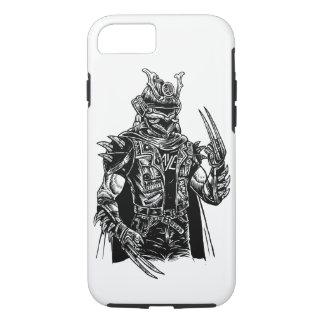 Capa de telefone resistente do punk do samurai