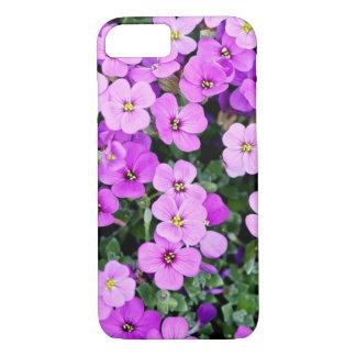 Capa de telefone roxa bonita da flor