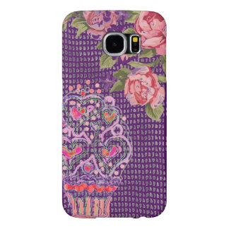 Capa de telefone roxa cor-de-rosa feminino do
