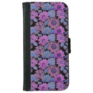 Capa de telefone roxa da carteira de Iphone 6/6s