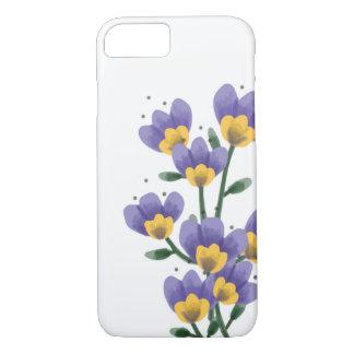 Capa de telefone roxa da flor