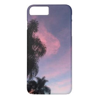 Capa de telefone roxa do por do sol
